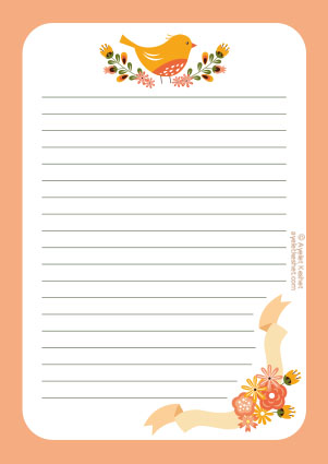 graphic regarding Stationary Printable named Totally free printable letter paper - Ayelet Keshet